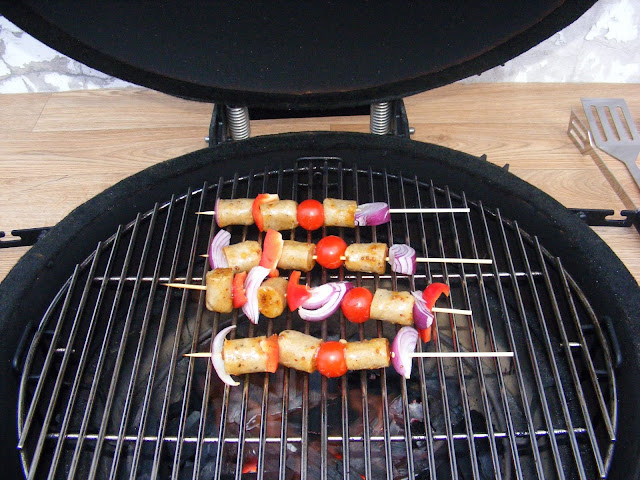 vegetarian grilled skewers