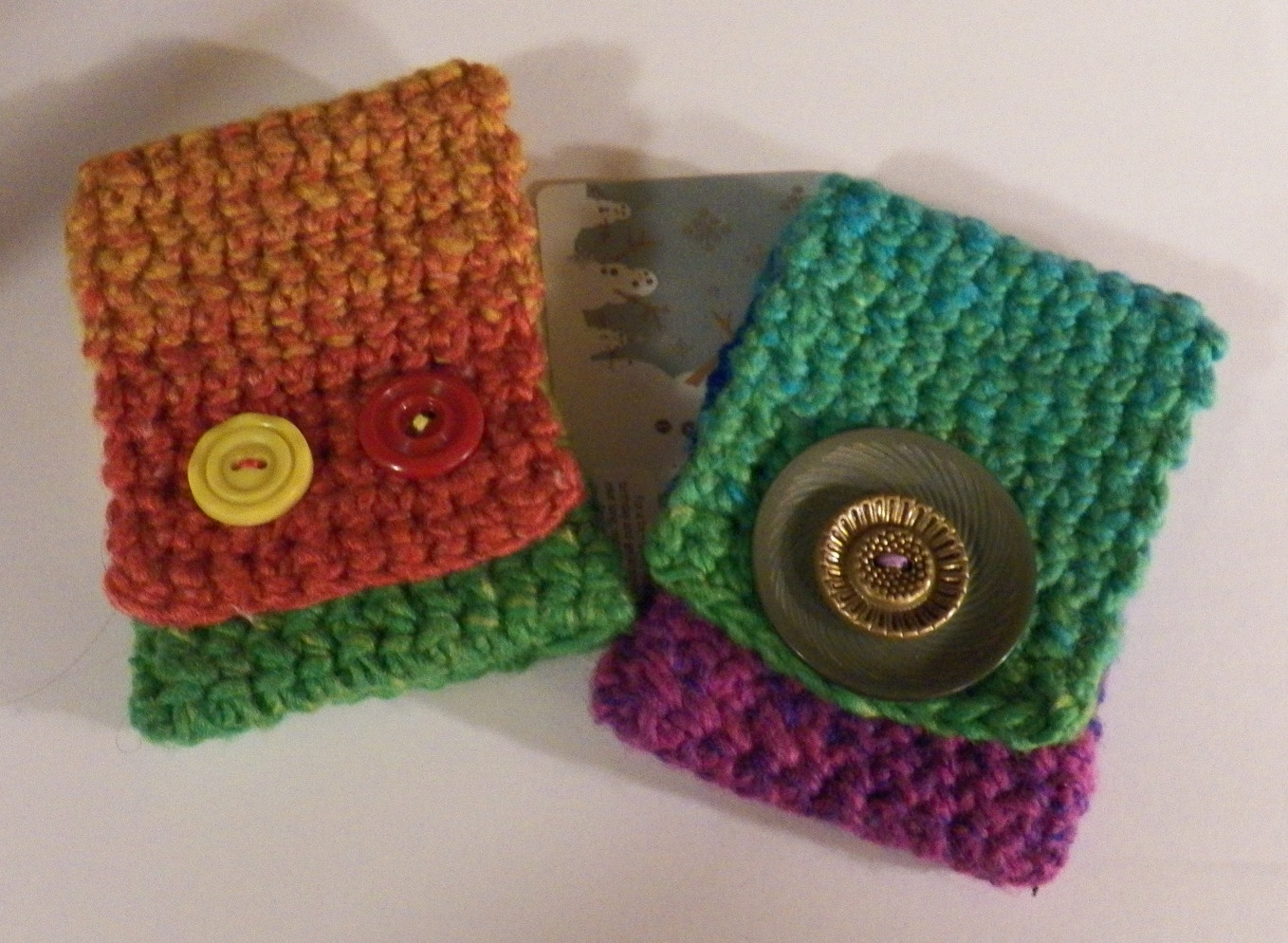 Free Crochet Pattern Gift Card : Dont Eat the Paste: Crocheted Gift Card Holders- Pattern