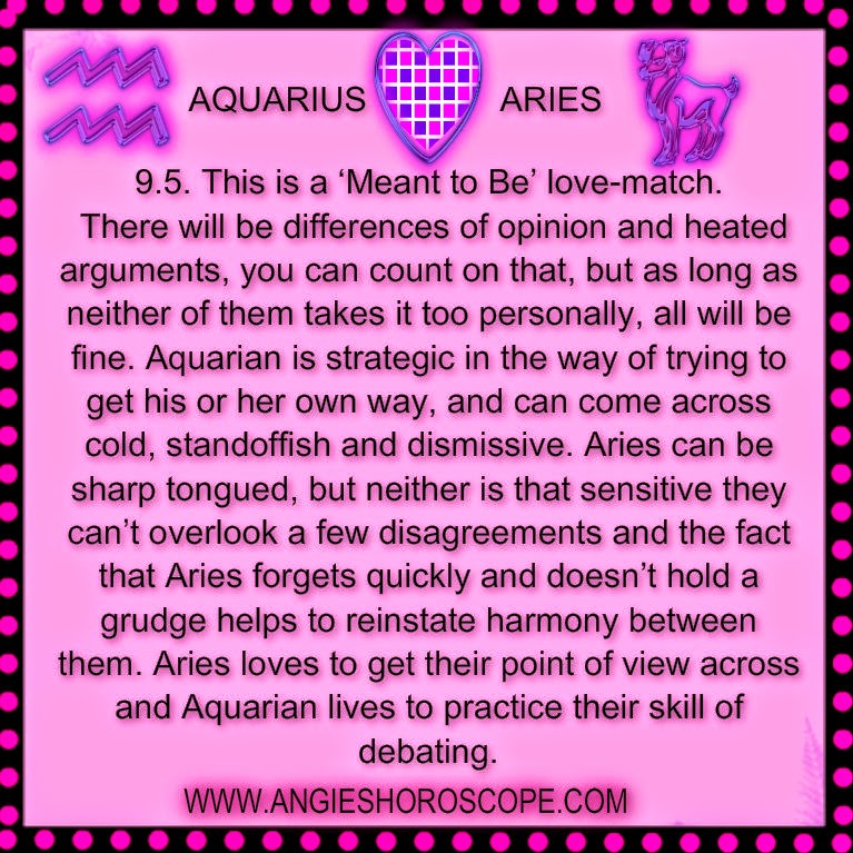 aries dating aquarius Aries woman dating aquarius man - men looking for a man - women looking for a man join the leader in online dating services and find a date today join and search how to get a good woman it is not easy for women to find a good man, and to be honest it is not easy for a man to find a good woman.