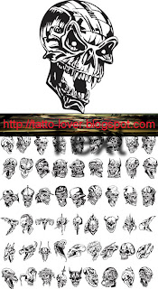 Creative Skulls Mix Vector n Font Type