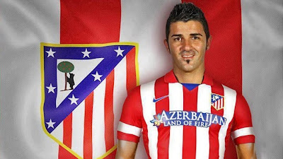 Foto David Villa Atletico Madrid 2013 2014 Foto David Villa di Atletico Madrid Terbaru Musim 2013 2014
