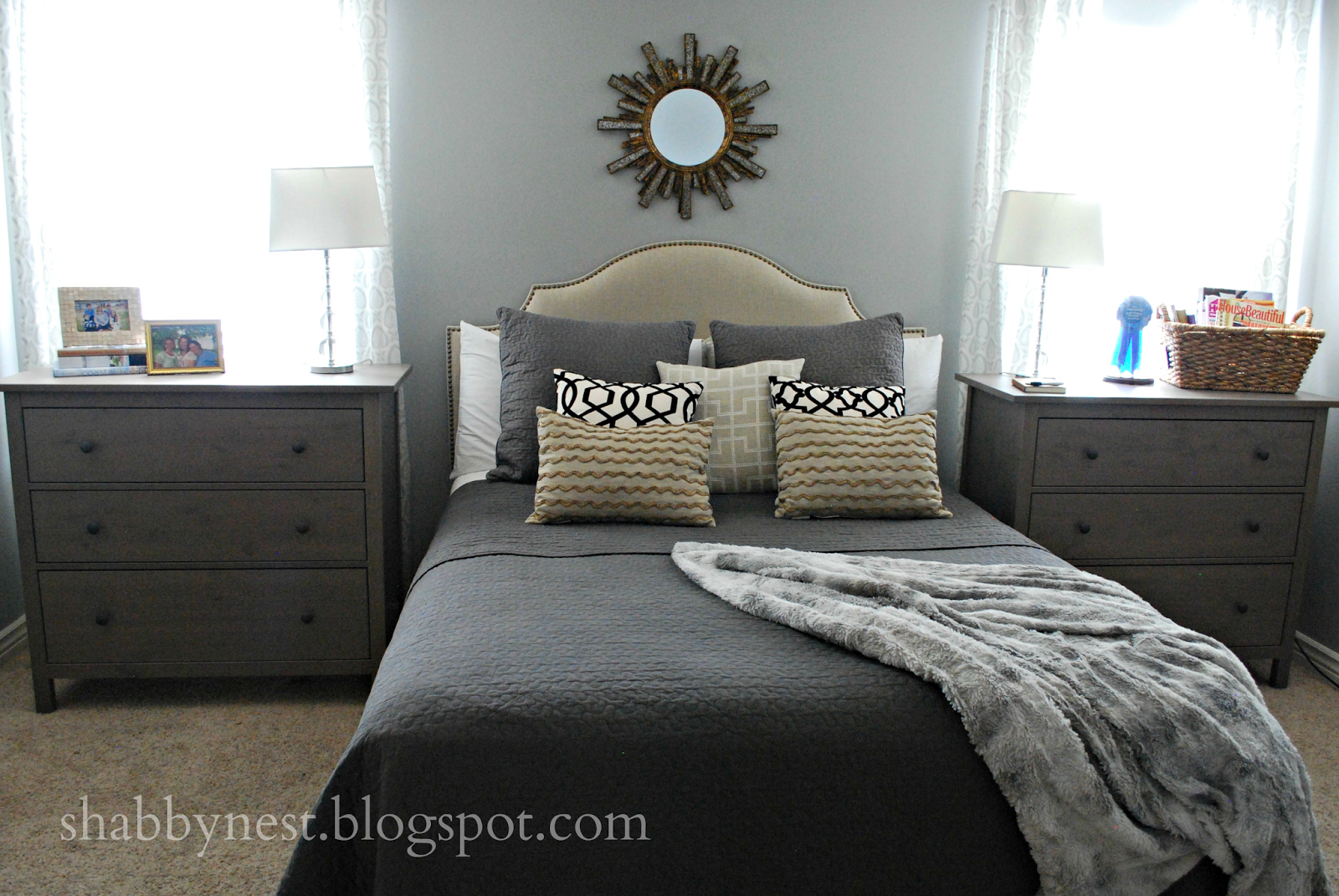 The Shabby Nest Using Dressers as Nightstands