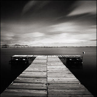 Blue Lake No. 4 - Black and White Seascape