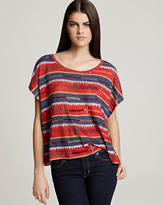 Embroidered Stripes Tee