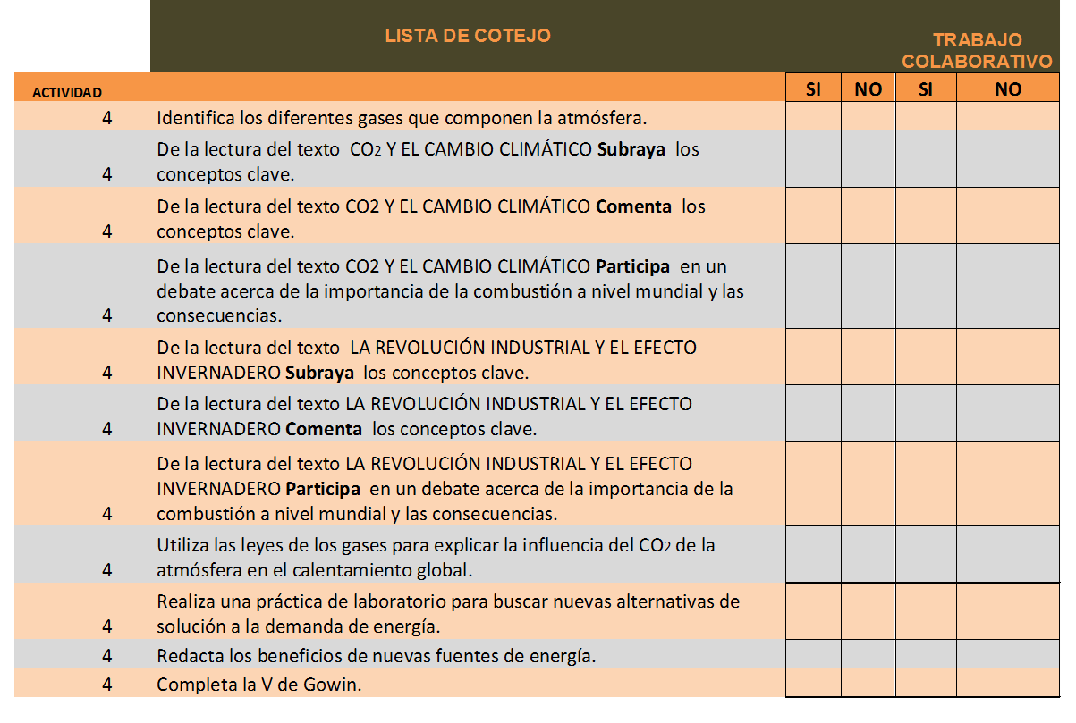 Lista De Cotejo Ejemplo | newhairstylesformen2014.com