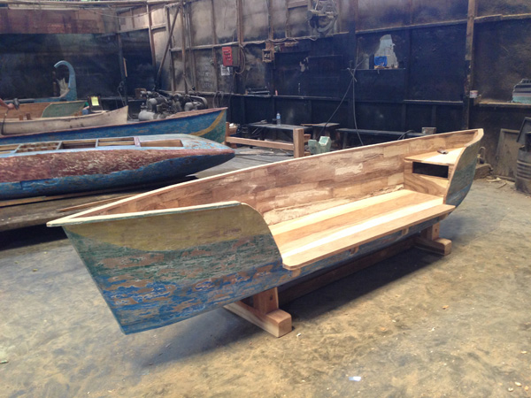 Reclaimed Teak Canoe Bench