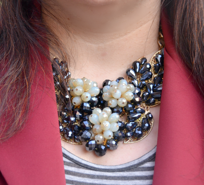 statement necklace collana appariscente