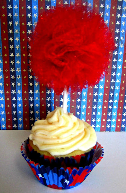 Cupcake topper, cupcake, tulle pom, pompom, glitter pom, Fizzy Party