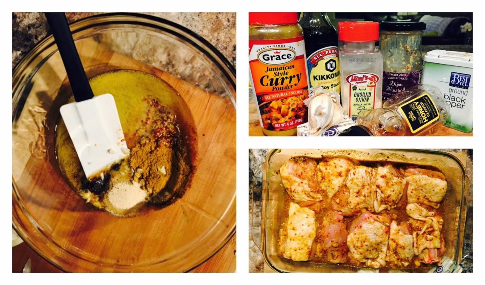 Honey Curry Chicken Thighs