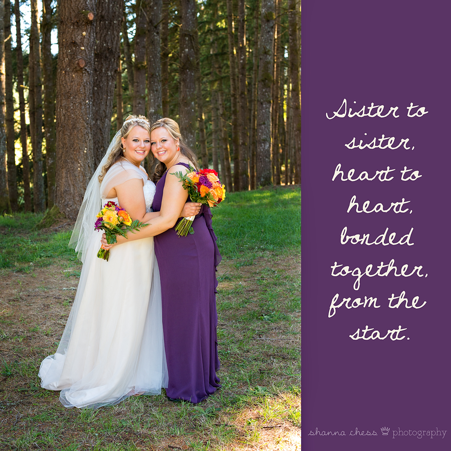 eugene springfield oregon wedding photography twin sisters