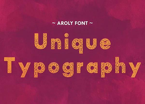 Günün Ücretsiz Fontu: Aroly