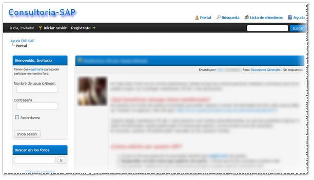 Consultoria-SAP foro de ayuda