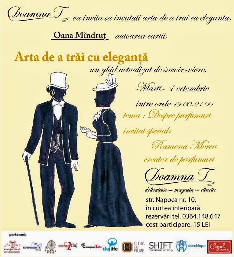 workshop: Despre parfumuri 1 octombrie Cluj-Napoca, ora 19.00 - 21.00