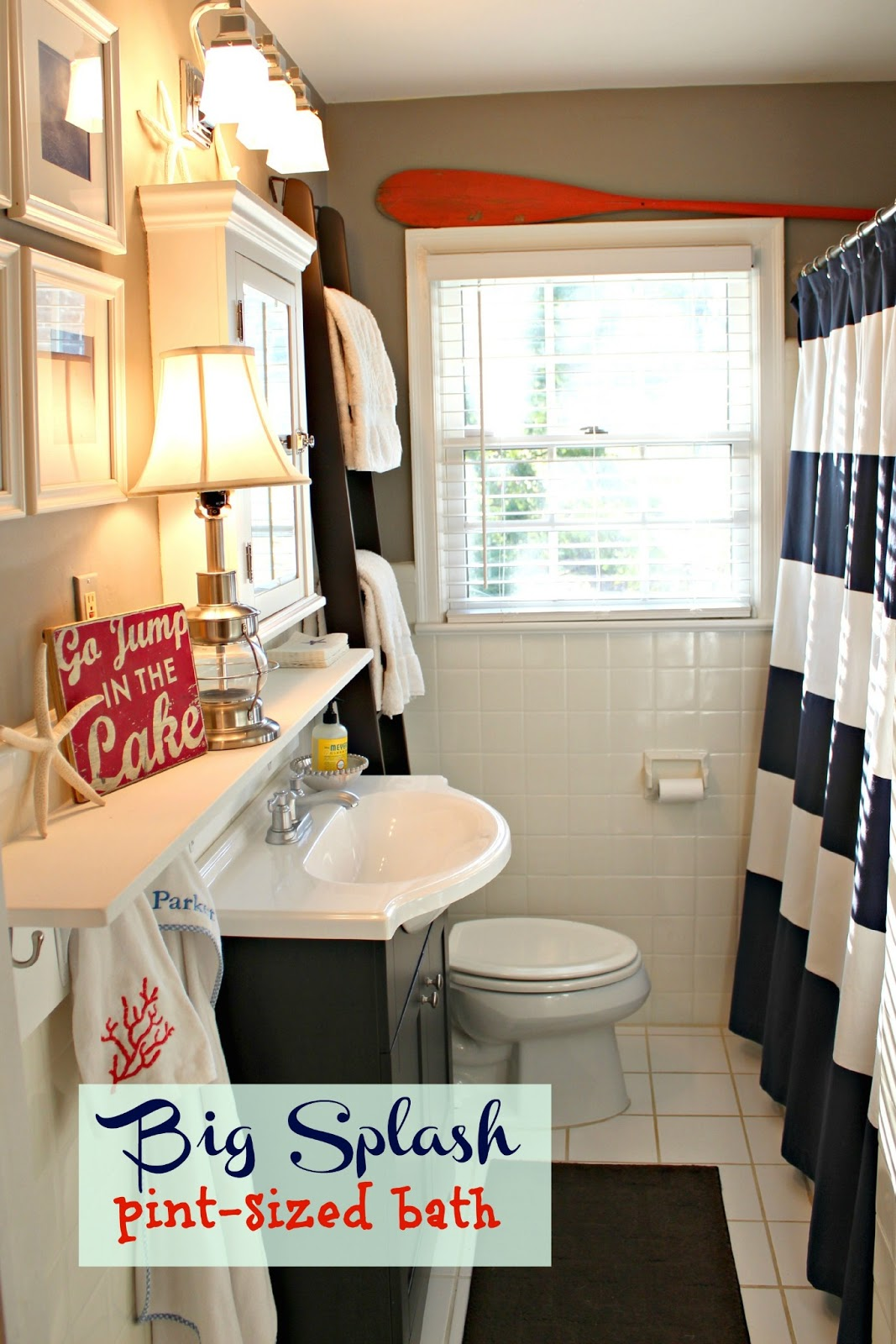 red white and blue bathroom ideas