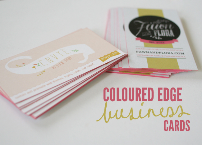 make your own colored edge business cards - Colored Edge Business Cards
