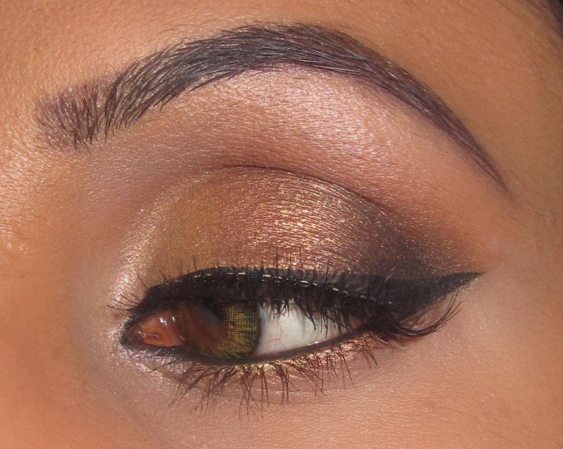 mac gold bronze smokey eyeshadow blog look