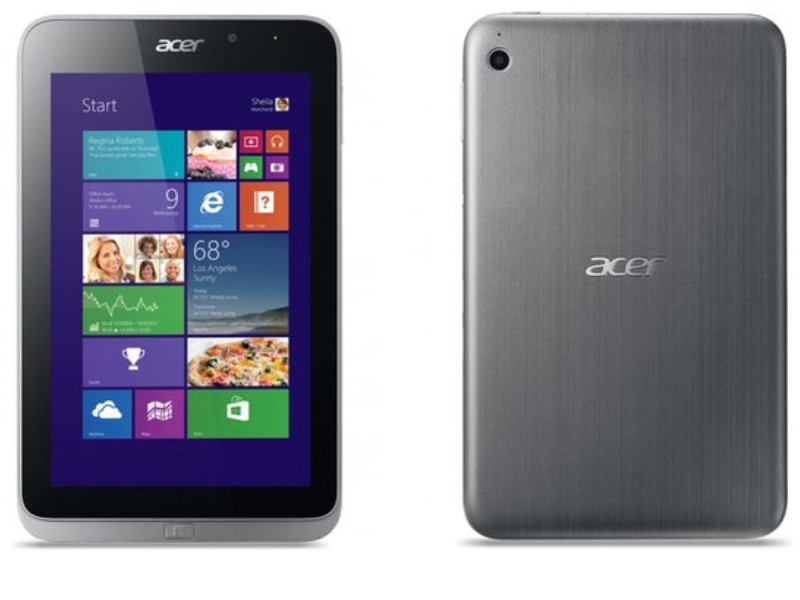 Acer Iconia Tab W4-820 front & back