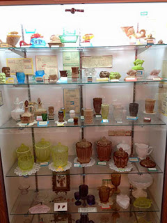 Greentown Glass Museum Display Case