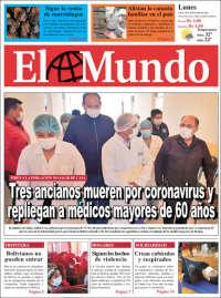 30/03/2020    UNA  PRIMERA PÁGINA DE LA PRENSA BOLIVIANA