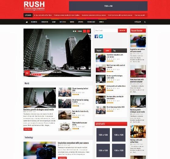 Rush - WordPress Theme for Blog and Magazine