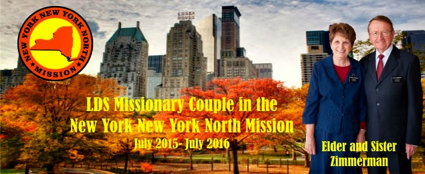 LDS Missionary Couple in the New York New York North Mission