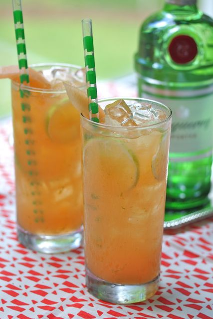 cantaloupe limeade cocktail