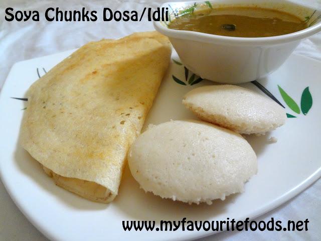 Soya Chunks Dosa / Idli
