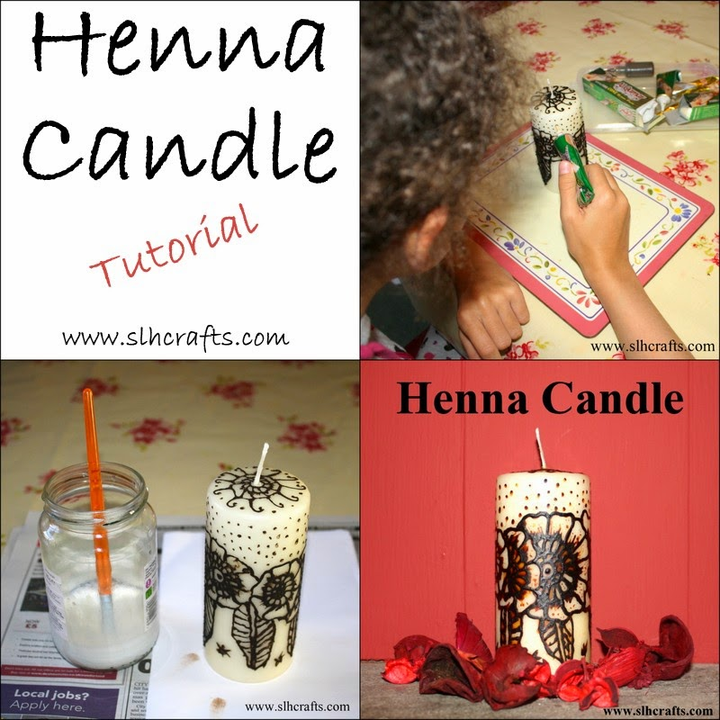 henna candle tutorial eid gift