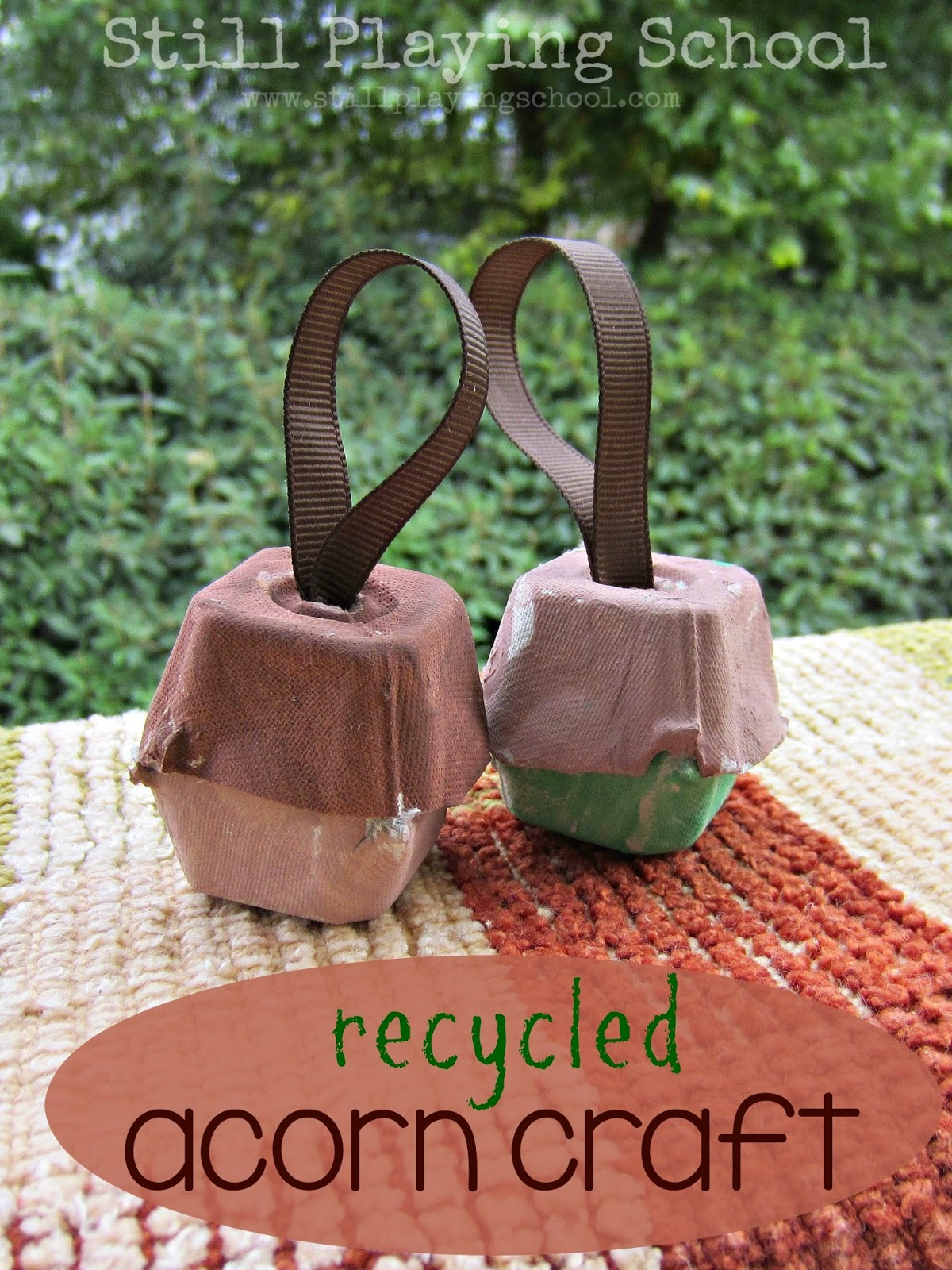 The best acorn crafts and activities for kids still for How to make acorn ornaments