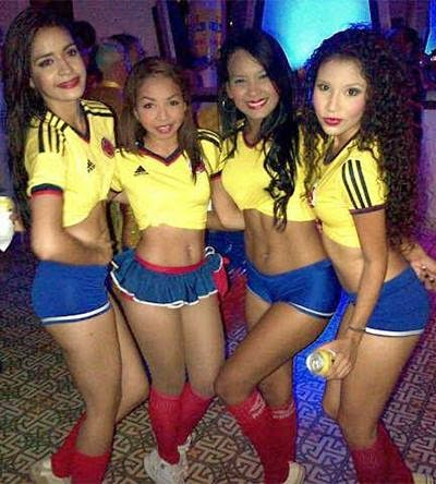 World Cup Brazil 2014: sexy hot girls football fan, beautiful woman supporter of the world. Pretty amateur girls, pics and photos   Colombia colombiana