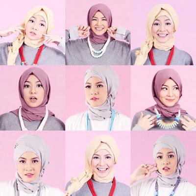 tutorial hijab Natasha Rizki