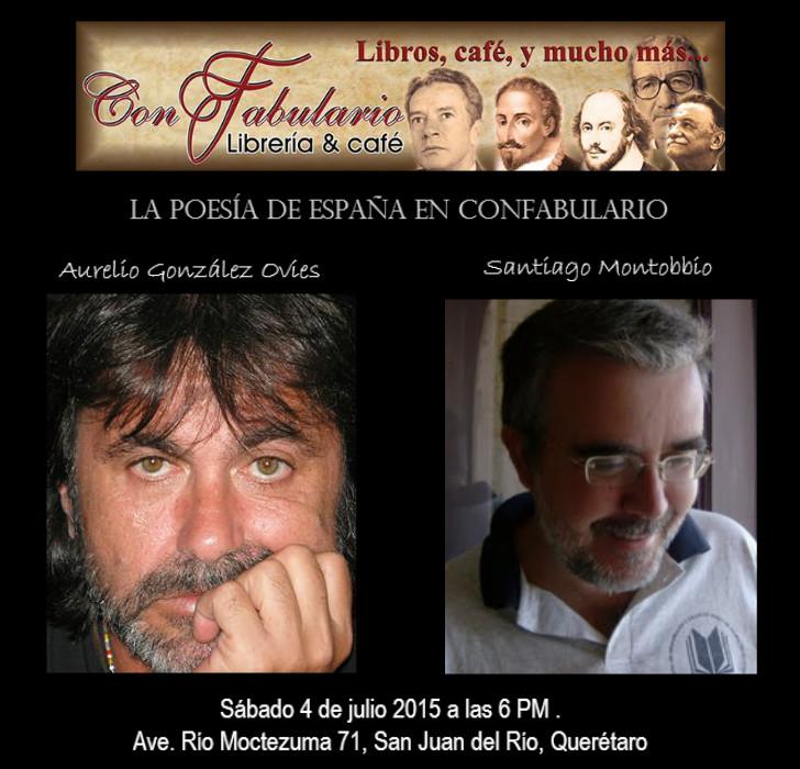 La poesía de España en Confabulario, en San Juan del Río, el 4 de julio