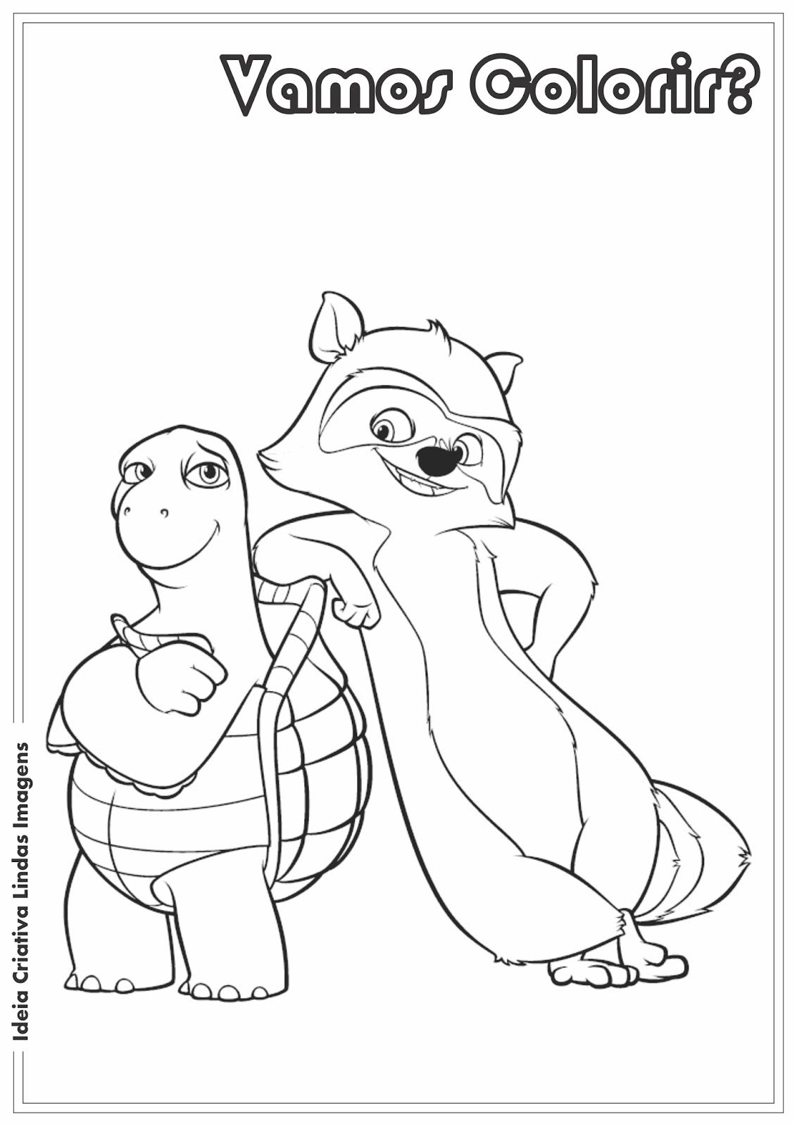 Os Sem-Floresta - Verne e RJ desenho para colorir