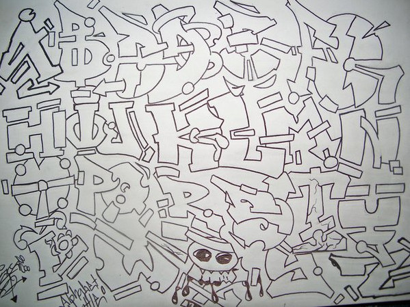 draw graffiti alphabet letters different styles