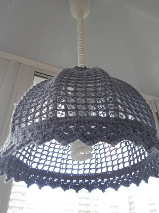 Trico y crochet madona m a lamparas colgantes hechas de - Como hacer lamparas colgantes ...