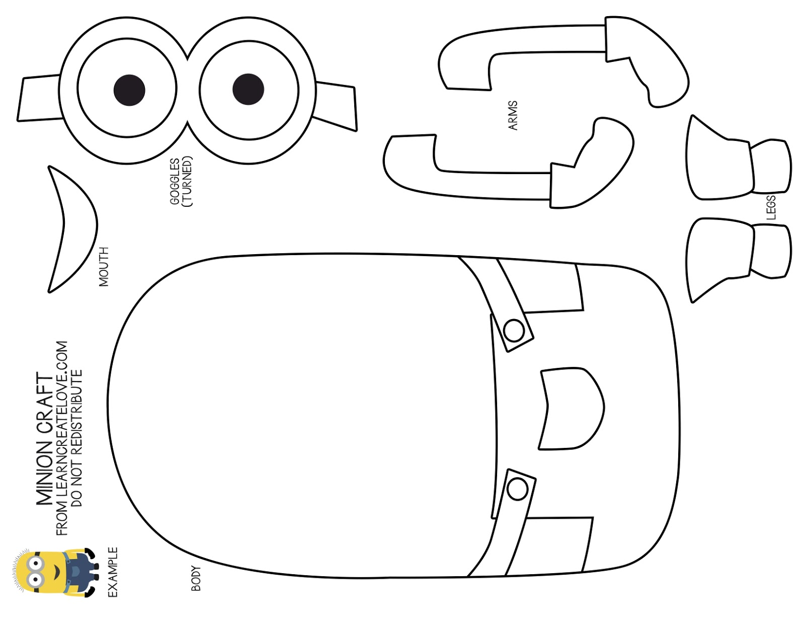 Impeccable image in minion template printable