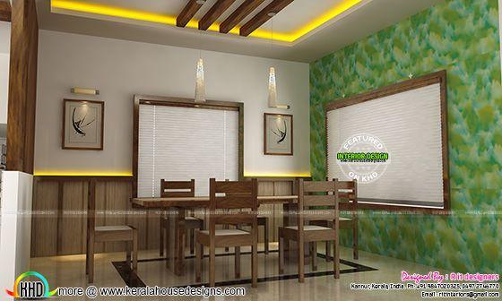 Dining room interior in India