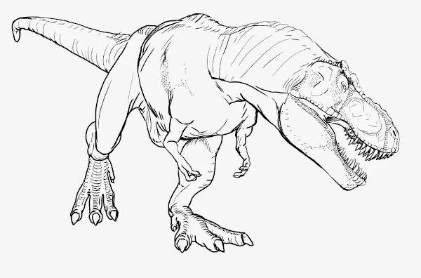 Cartoon T Rex Dinosaur Coloring Pages