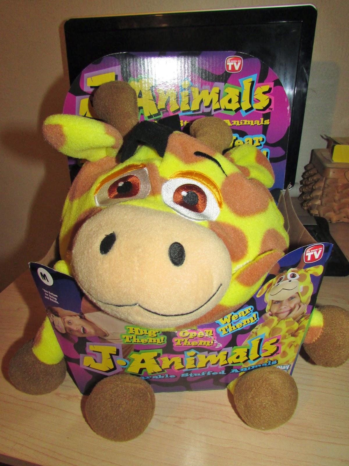 Janimals Wearable Stuffed Animals  As Seen on TV