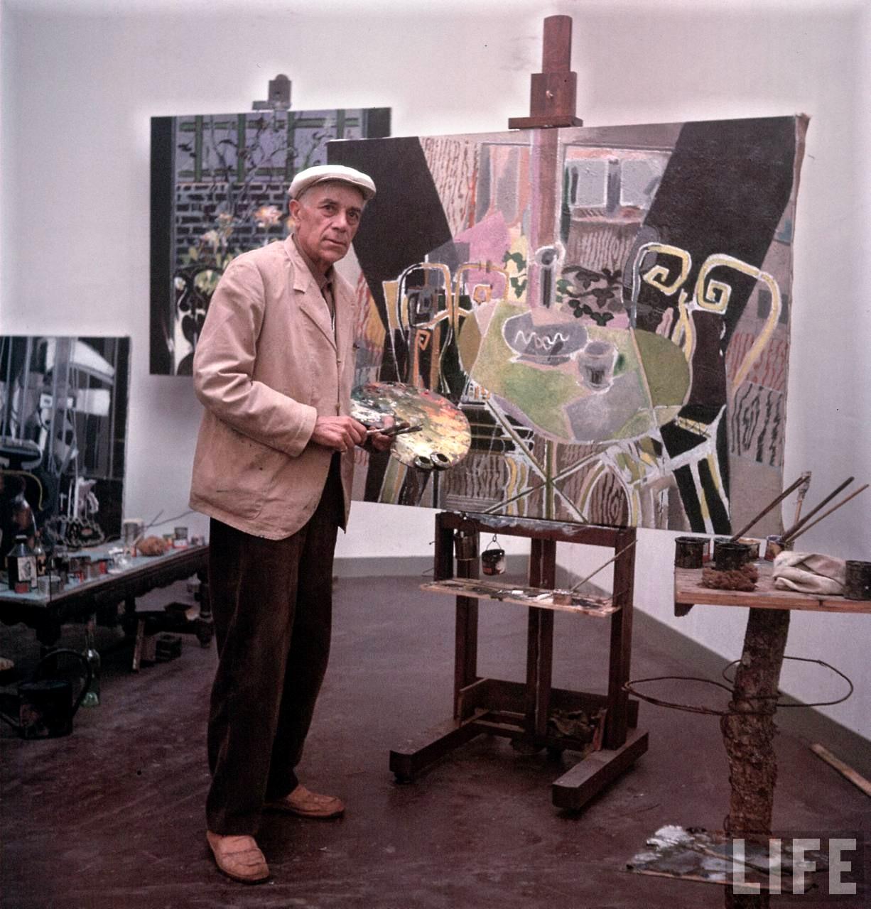 Braque In His Studio   ineedartandcoffee