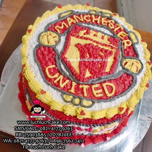 Kue Tart Manchester United Buttercream Daerah Surabaya - Sidoarjo