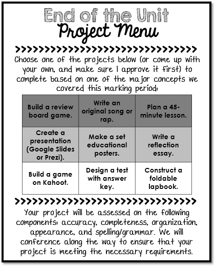 Project Menu: Differentiated Expression
