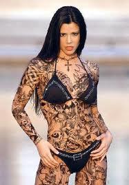 Beauty Girl Full Body Tattoo