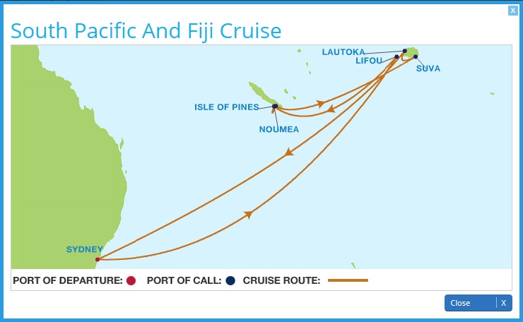 Celebrity Solstice Current Position Dual Tracking