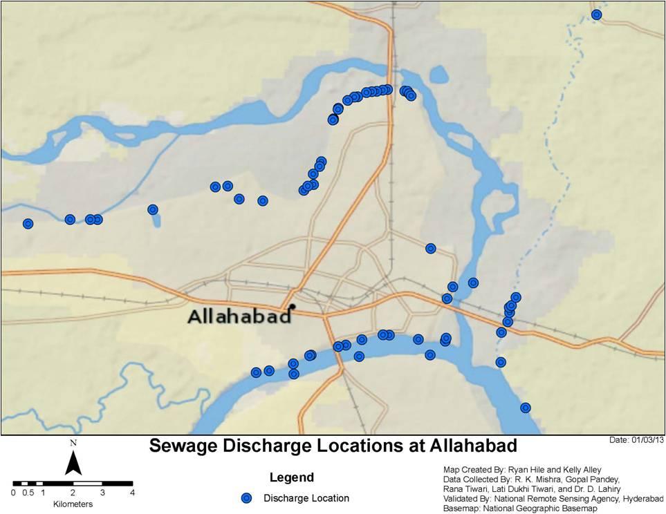 Allahabad Sangam Map - Allahabad map