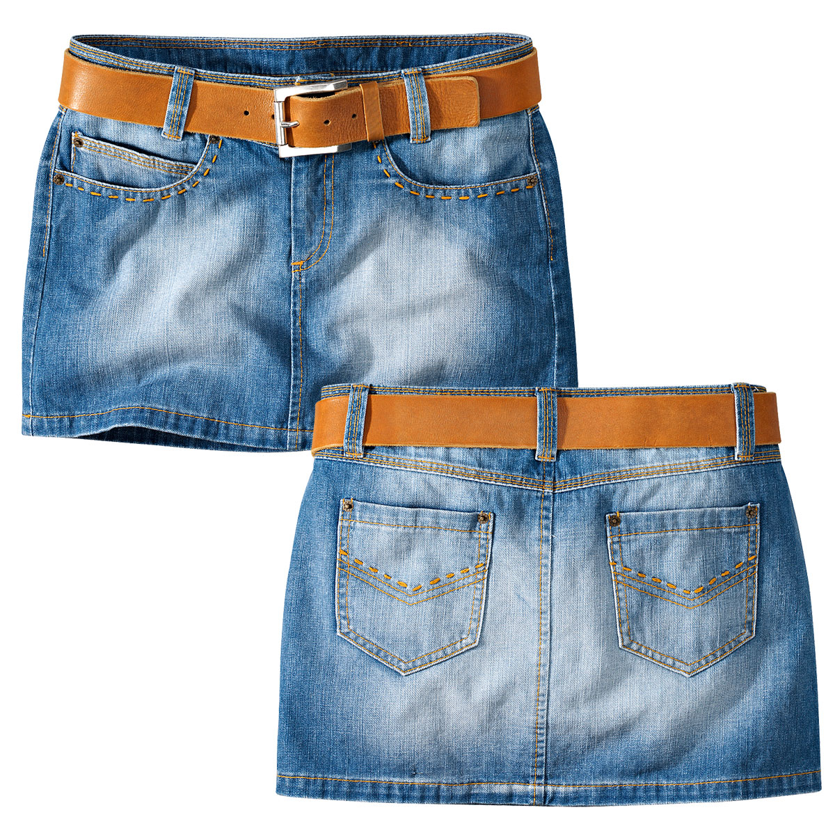Джинсовая короткая юбка своими руками