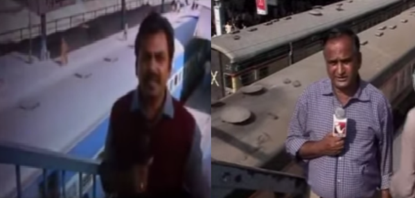The iconic scene in Bajrangi Bhaijaan, in which Nawazuddin Siddiqui struggles to file his report on the crowded over bridge of a railway station, was inspired by a real-life TV report filed by Karachi's Indus TV reporter Chand Nawaab.
