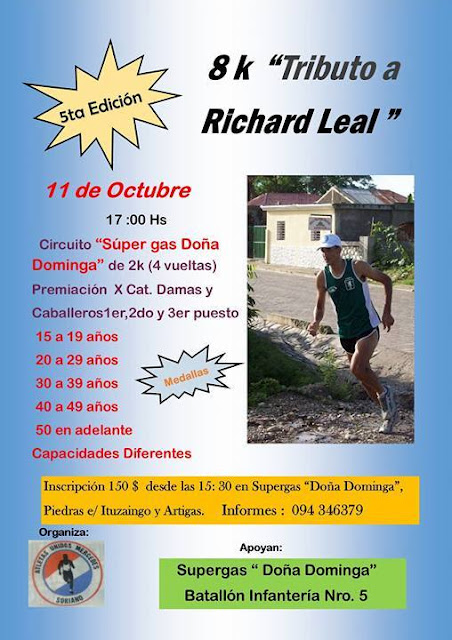 8k Tributo a Richard Leal (Mercedes, Soriano, 11/oct/2015)