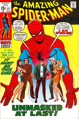 Amazing Spider-Man #87, Spider-Man unmasked