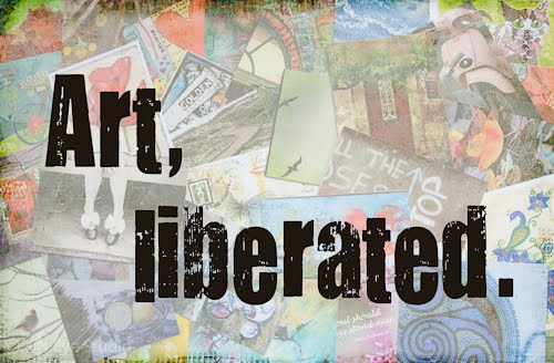 Liberate your art post card swap with Kat Eye Studio